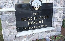 Beach Club Resort Sign