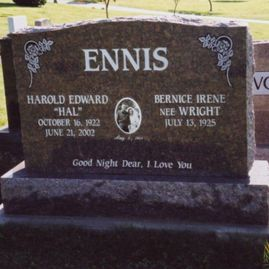 upright headstone 11